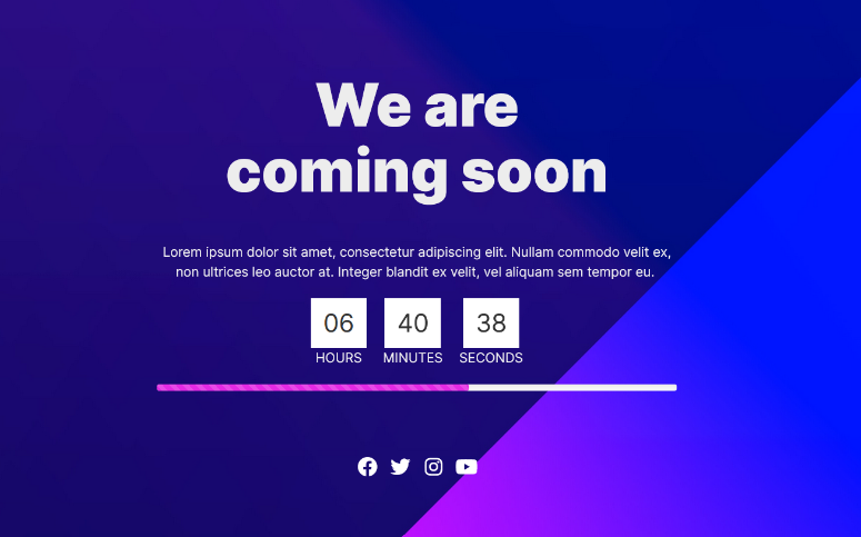 live countdown timer page
