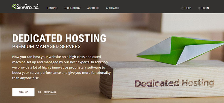 SiteGround coupon for Dedicated Hosting