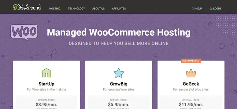 SiteGround discount code for WooCommerce Hosting