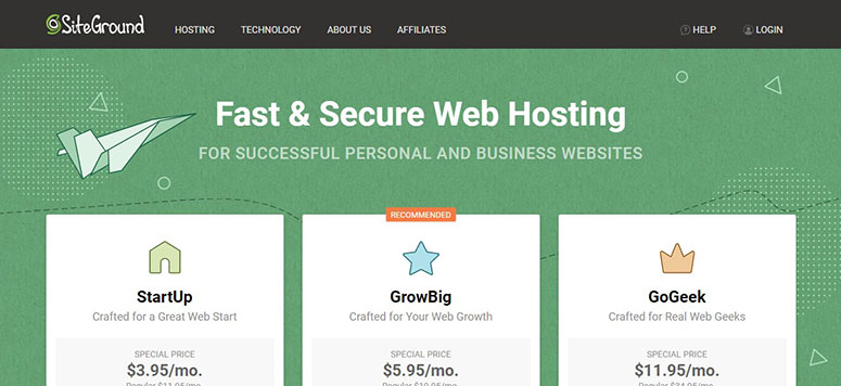 SiteGround deals on Web Hosting