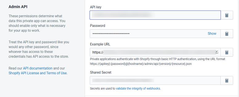Admin API shopify