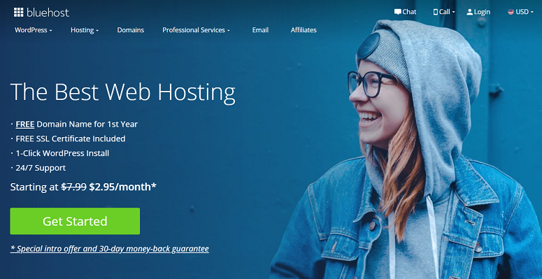 Bluehost, transfer a domain for free