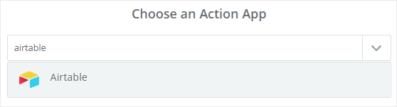 Choose airtable action app