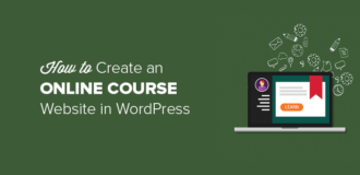 How to create an online course website in WordPress