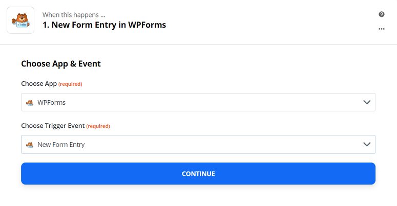 integrate wpfrms to zapier
