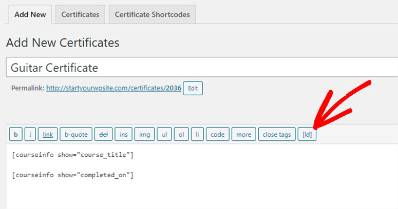 LMS certificate