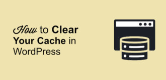How to clear cache in wp