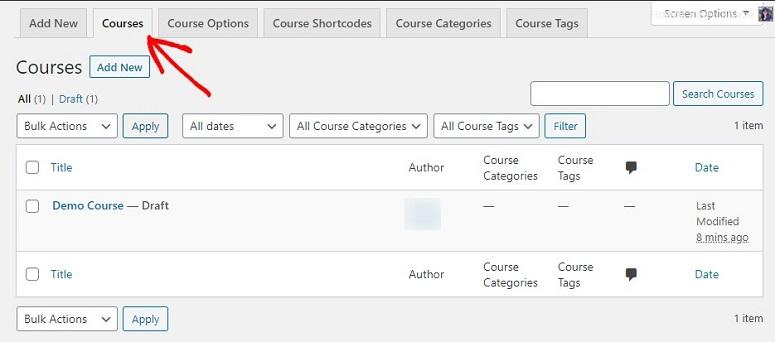 LearnDash course builder options