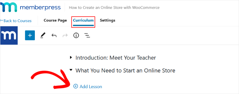 add lessons in memberpress
