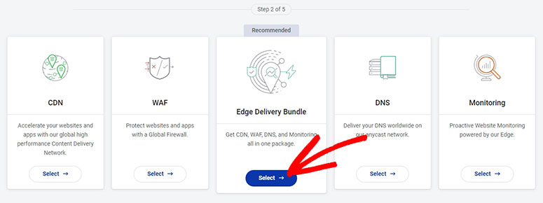 Select the Edge Delivery Bundle