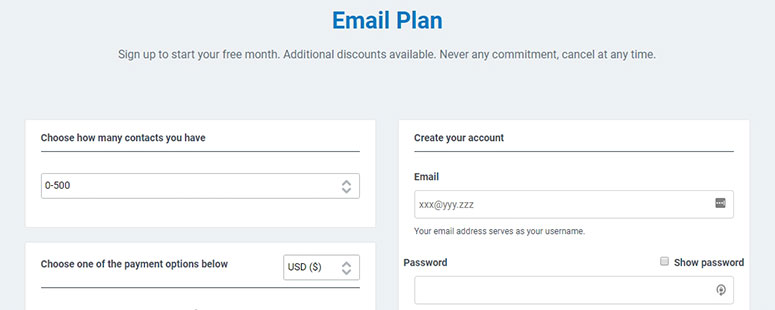 Constant Contact Email Plan
