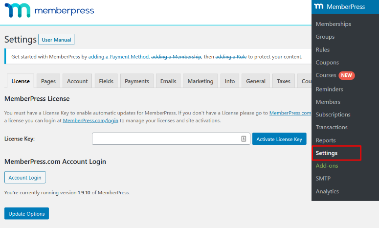 add memberpress license