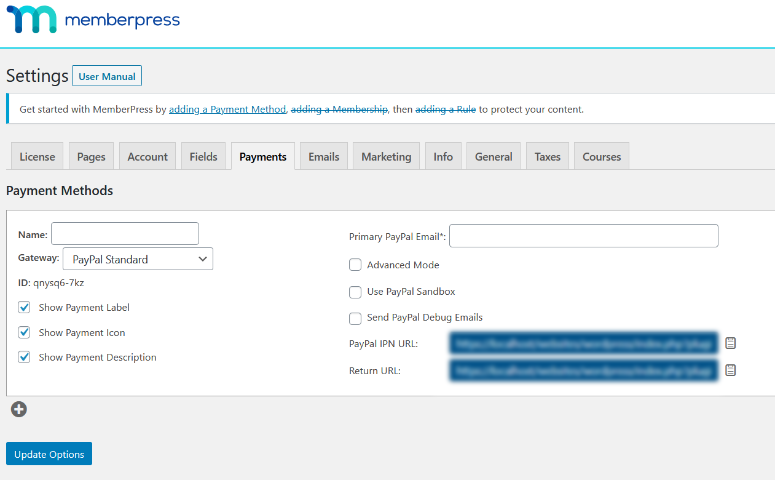 add payment gateways in memberpress