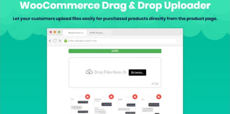 WooCommerce Drag and Drop Uploader