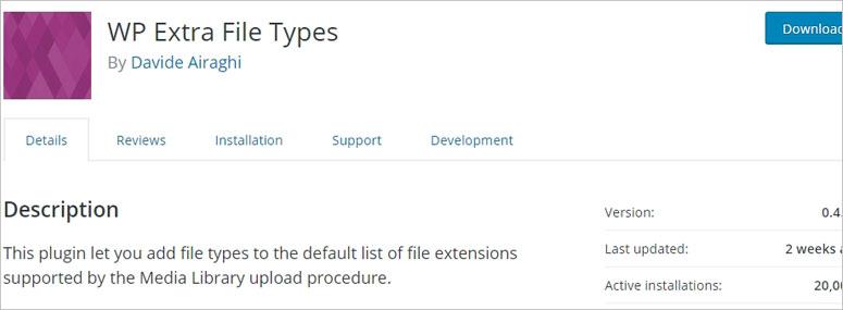 WP Extra File Type
