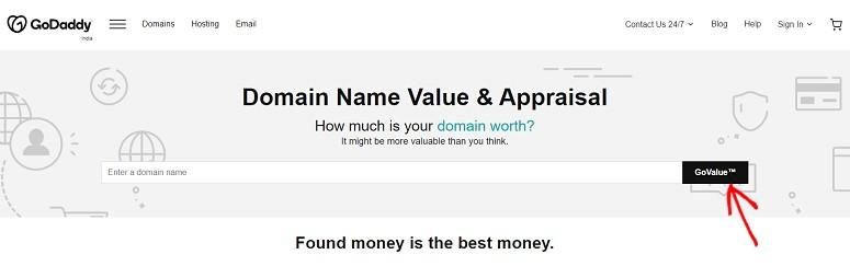 Domain appraisal, godaddy