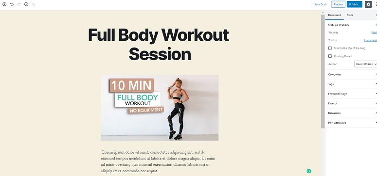 Gym class online