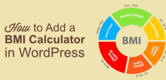 How to addbmi calculator in wordpress