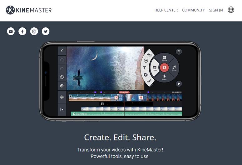 KineMaster, éditeur vidéo