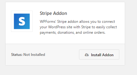 WPForms Stripe Addons, accepting stripe payments