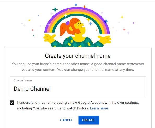 Nom de la chaîne YouTube