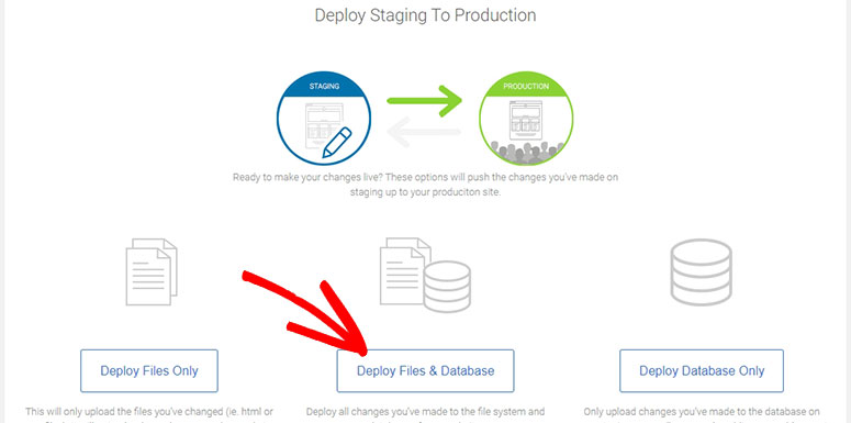 Deploy staging site