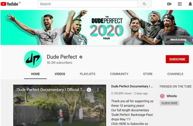 dude perfect start un exemple de vlog