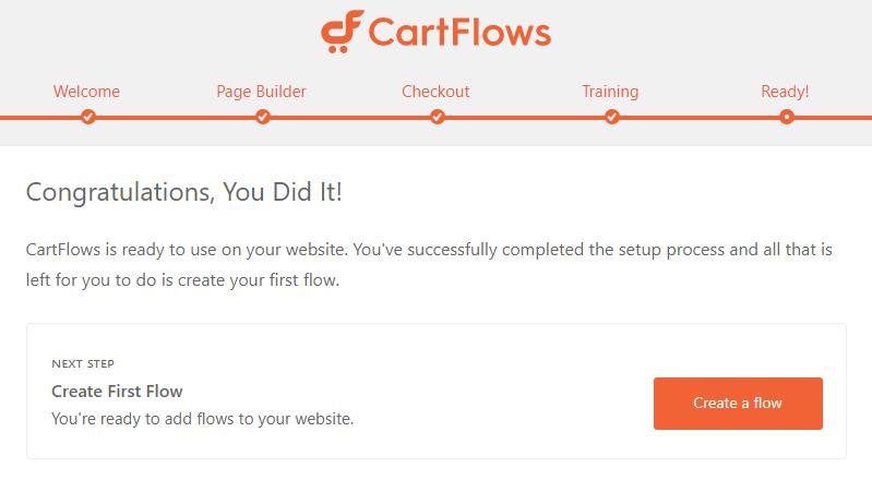 CartFlows final setup step