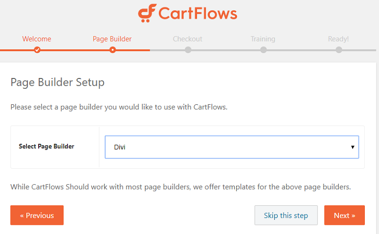 CartFlows page builder