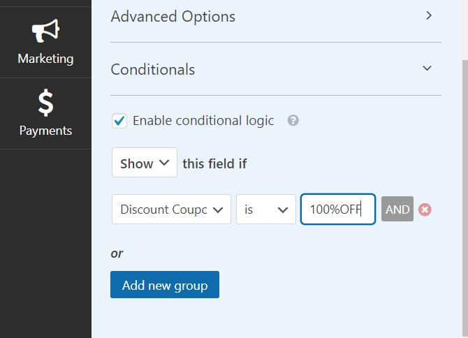 Discount code WPForms