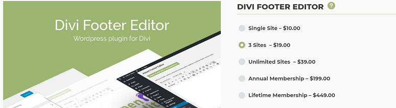 Divi Footer Editor, divi plugins