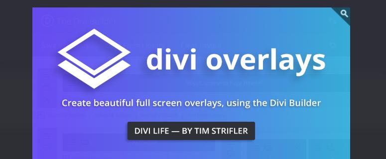 Divi Overlays, divi plugins
