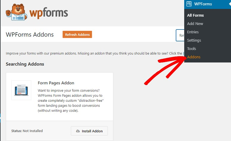 Form Pages addon