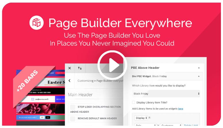 Page Builder Everywhere , Divi plugins