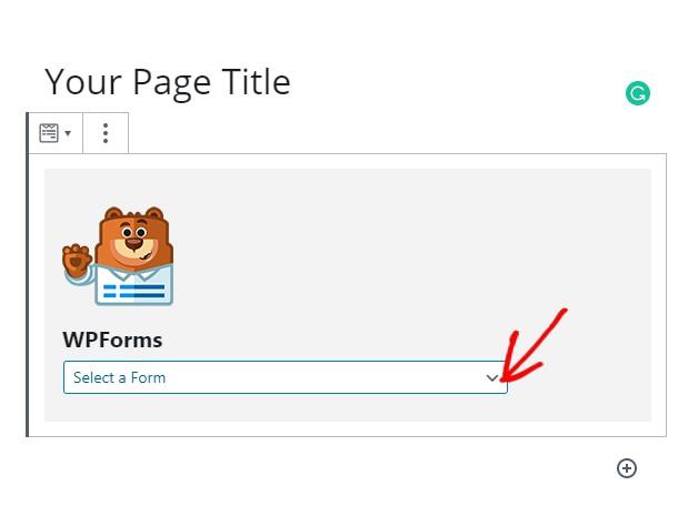 Publsih wpforms landing page form