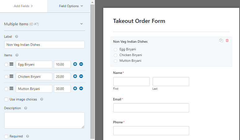 WPForms edit take away forms