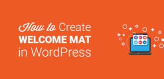 How to Create a Welcome Mat in WordPress