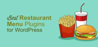 restaurant menu plugins