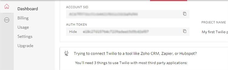 Twilio Token Details