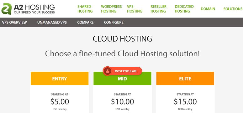 A2 Cloud hosting