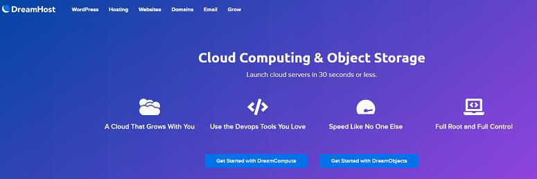 Dreamhost, cloud hosting
