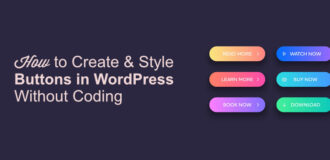 How to style buttons in wp