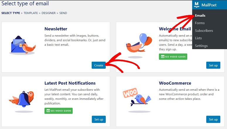 MailPoet templates