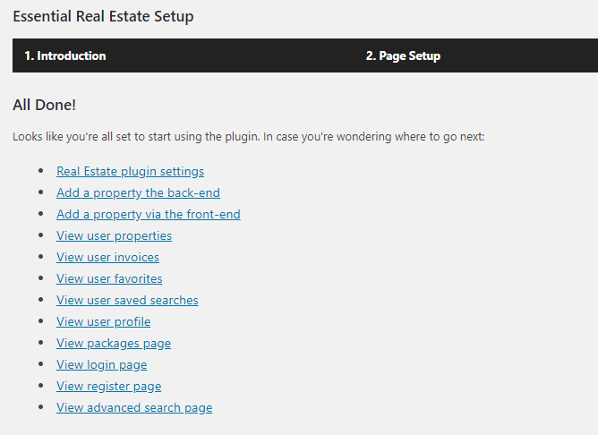 essential real estate plugin