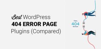 Best Custom WordPress 404 Error Plugin