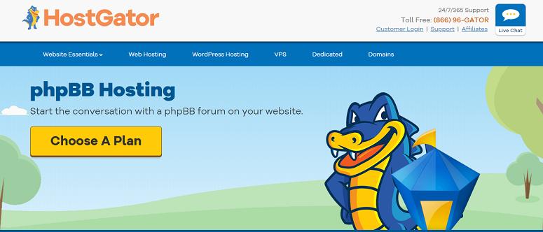 hostgator phpbb hosting
