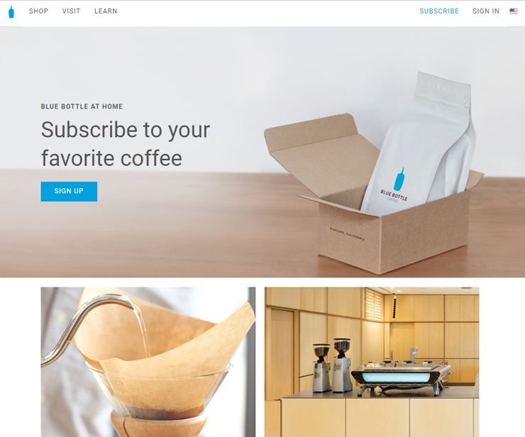 subscription box example bluecoffee