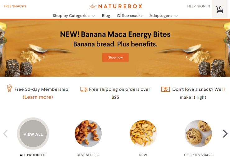 subscription box example naturebox