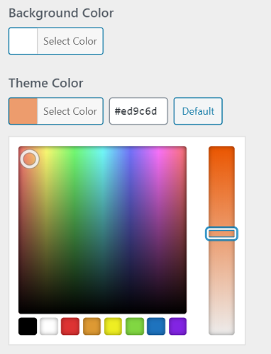 Color customizer