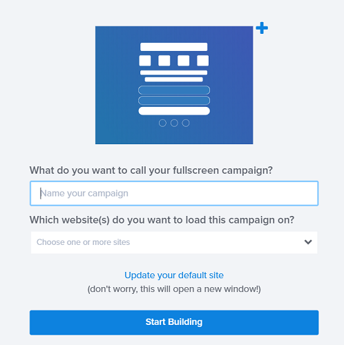 Create a campaign with optinmonYter
